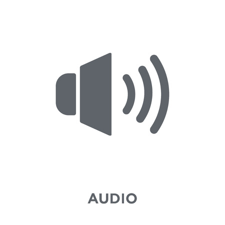 Audio icon. Audio design concept from  collection. Simple element vector illustration on white background.