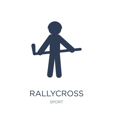 rallycross icon. Trendy flat vector rallycross icon on white background from sport collection, vector illustration can be use for web and mobile, eps10 Illustration