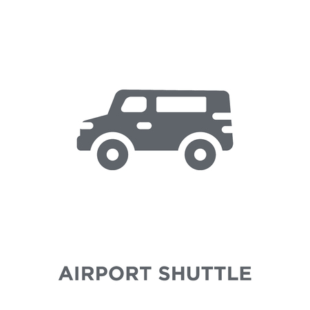 airport shuttle icon. airport shuttle design concept from Transportation collection. Simple element vector illustration on white background.