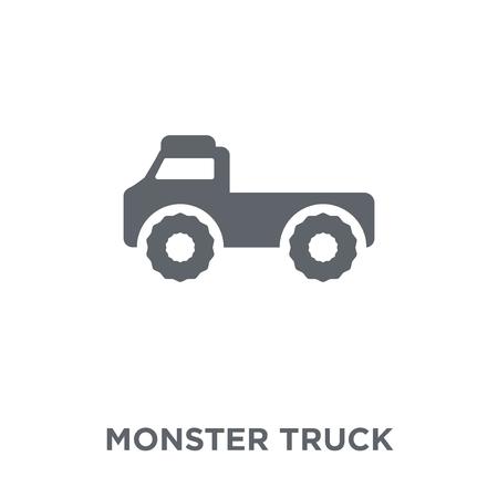 Icône de camion monstre. Concept de design de camion monstre de la collection Transport. Illustration vectorielle élément simple sur fond blanc.