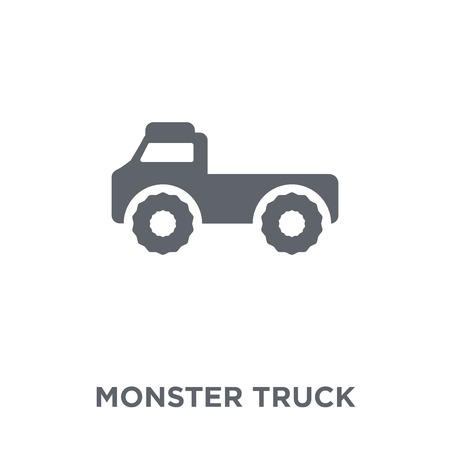 Monster truck icon. Monster truck design concept from Transportation collection. Simple element vector illustration on white background.