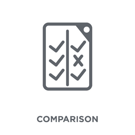 Comparison icon. Comparison design concept from Startup collection. Simple element vector illustration on white background. Illusztráció