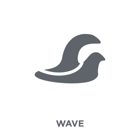 Wave icon. Wave design concept from  collection. Simple element vector illustration on white background.