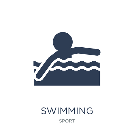 Swimming icon. Trendy flat vector Swimming icon on white background from sport collection, vector illustration can be use for web and mobile, eps10