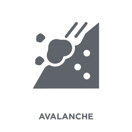 Avalanche icon. Avalanche design concept from Winter collection. Simple element vector illustration on white background.