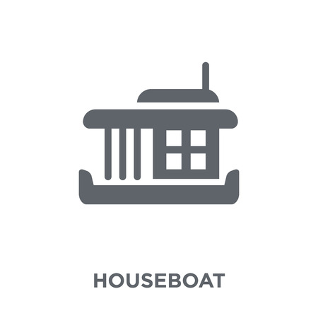 houseboat icon. houseboat design concept from Transportation collection. Simple element vector illustration on white background.