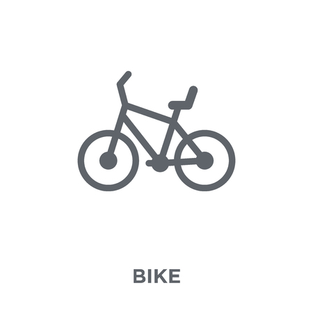 Bike icon. Bike design concept from  collection. Simple element vector illustration on white background. Illustration