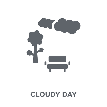 Cloudy Day icon. Cloudy Day design concept from  collection. Simple element vector illustration on white background. Illustration