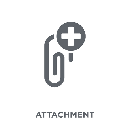 Attachment icon. Attachment design concept from  collection. Simple element vector illustration on white background.