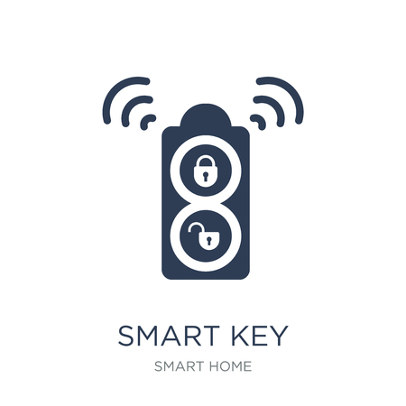 Smart key icon. Trendy flat vector Smart key icon on white background from smart home collection, vector illustration can be use for web and mobile, eps10 Illustration
