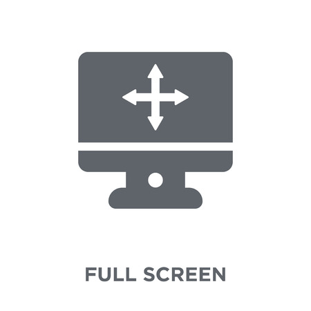 Full screen icon. Full screen design concept from  collection. Simple element vector illustration on white background.