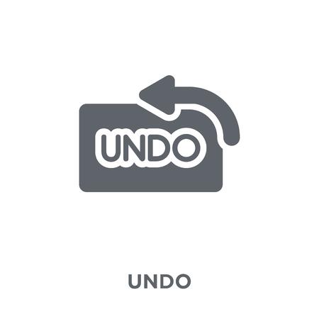 Undo icon. Undo design concept from  collection. Simple element vector illustration on white background. Stock Illustratie
