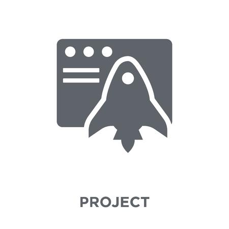 Icona del progetto. Concetto di design del progetto da collezione. Illustrazione vettoriale semplice elemento su sfondo bianco.