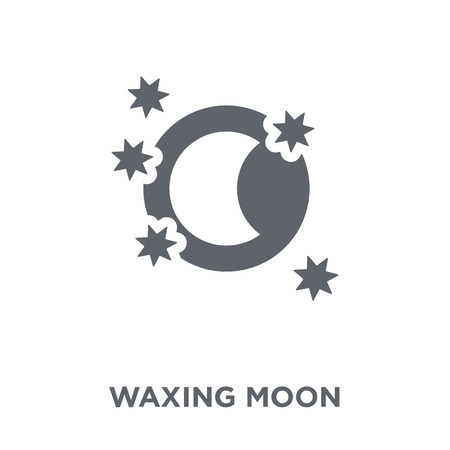 Waxing moon icon. Waxing moon design concept from Weather collection. Simple element vector illustration on white background.