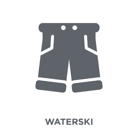 waterski icon. waterski design concept from Summer collection. Simple element vector illustration on white background.