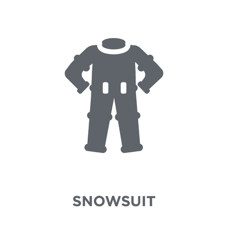 Snowsuit icon. Snowsuit design concept from Winter collection. Simple element vector illustration on white background. Ilustracja