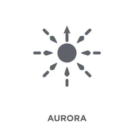 Aurora icon. Aurora design concept from  collection. Simple element vector illustration on white background.
