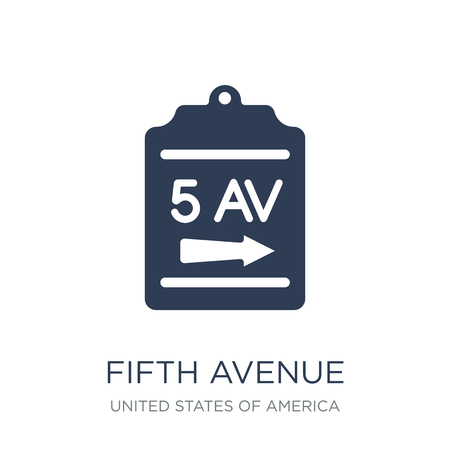 Fifth avenue icon. Trendy flat vector Fifth avenue icon on white background from United States of America collection, vector illustration can be use for web and mobile, eps10 Ilustración de vector