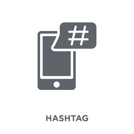 Hashtag icon. Hashtag design concept from  collection. Simple element vector illustration on white background.
