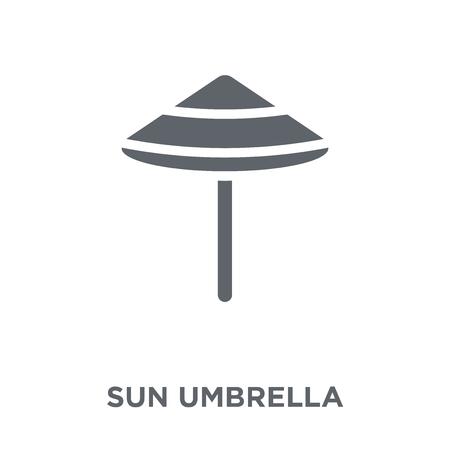 Sun umbrella icon. Sun umbrella design concept from  collection. Simple element vector illustration on white background. Illustration