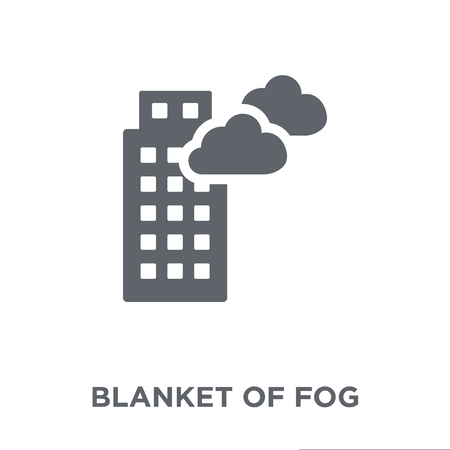 blanket of fog icon. blanket of fog design concept from Weather collection. Simple element vector illustration on white background.