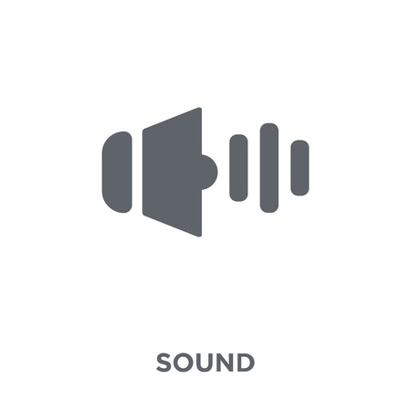 Sound icon. Sound design concept from  collection. Simple element vector illustration on white background. Banque d'images - 112417511