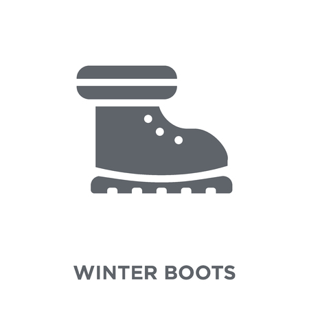 winter Boots icon. winter Boots design concept from Winter collection. Simple element vector illustration on white background. Archivio Fotografico - 112417516