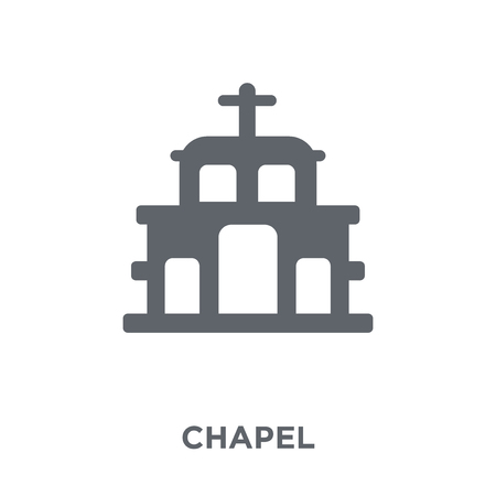 Chapel icon. Chapel design concept from Winter collection. Simple element vector illustration on white background.