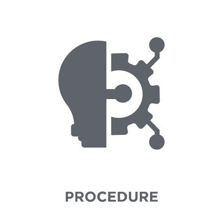 Procedure icon. Procedure design concept from  collection. Simple element vector illustration on white background. Vettoriali
