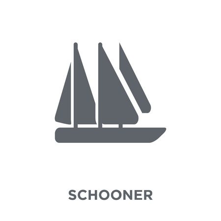schooner icon. schooner design concept from Transportation collection. Simple element vector illustration on white background.