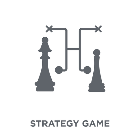 Strategy game icon. Strategy game design concept from Strategy 50 collection. Simple element vector illustration on white background.