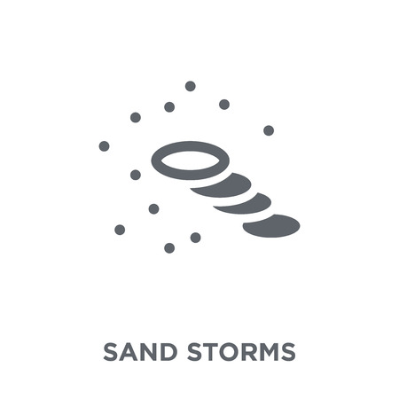 Sand storms icon. Sand storms design concept from Weather collection. Simple element vector illustration on white background. Illustration