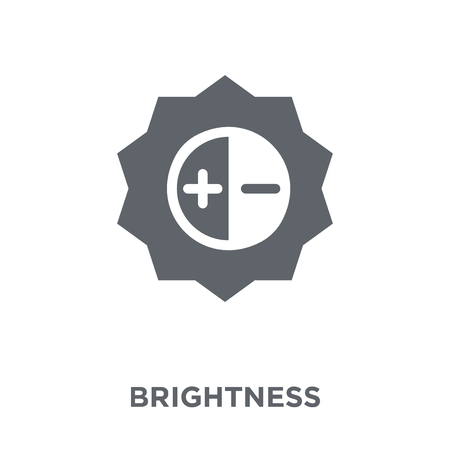 Brightness icon. Brightness design concept from  collection. Simple element vector illustration on white background. Vettoriali