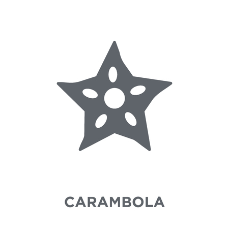 Carambola icon. Carambola design concept from Fruit and vegetables collection. Simple element vector illustration on white background.