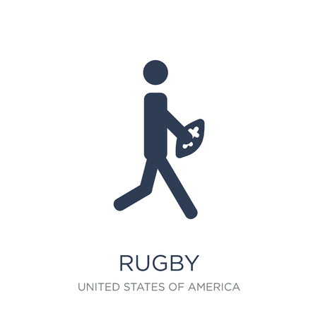 Rugby icon. Trendy flat vector Rugby icon on white background from United States of America collection, vector illustration can be use for web and mobile, eps10
