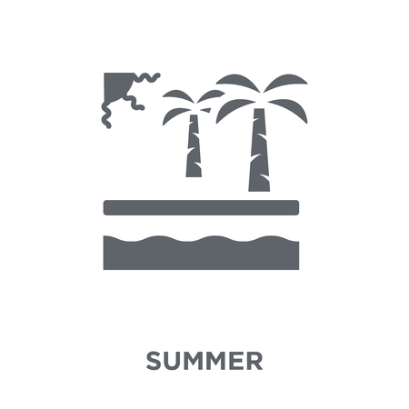 Summer icon. Summer design concept from collection. Simple element vector illustration on white background.