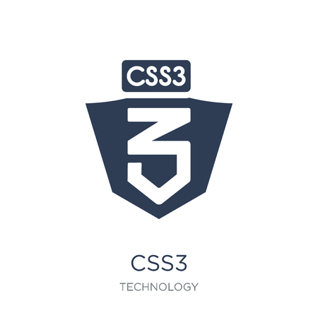 CSS3 icon. Trendy flat vector CSS3 icon on white background from Technology collection, vector illustration can be use for web and mobile, eps10