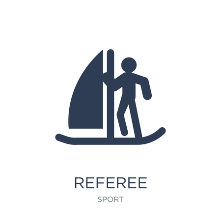 Referee icon. Trendy flat vector Referee icon on white background from sport collection, vector illustration can be use for web and mobile, eps10 Illusztráció