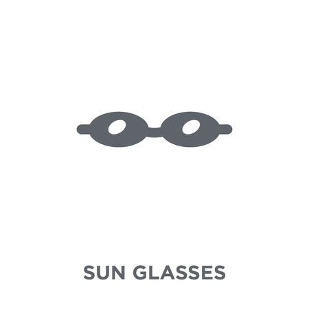 Sun glasses icon. Sun glasses design concept from  collection. Simple element vector illustration on white background.