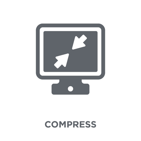 Compress icon. Compress design concept from Webnavigation collection. Simple element vector illustration on white background. Illustration