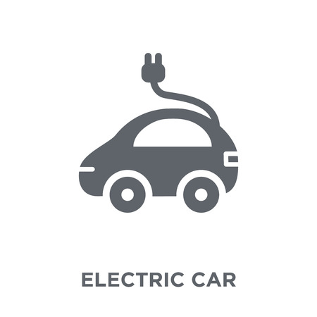 Electric car icon. Electric car design concept from  collection. Simple element vector illustration on white background. Illustration