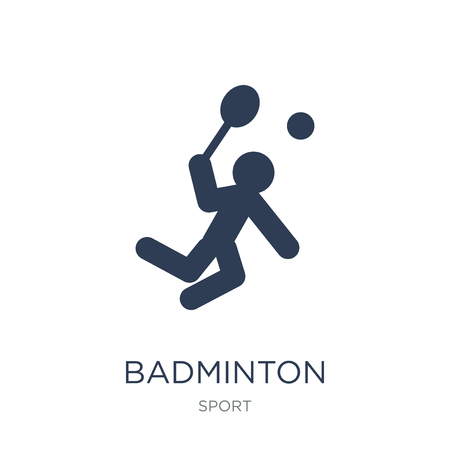 Badminton icon. Trendy flat vector Badminton icon on white background from sport collection, vector illustration can be use for web and mobile, eps10