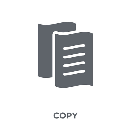 Copy icon. Copy design concept from  collection. Simple element vector illustration on white background.