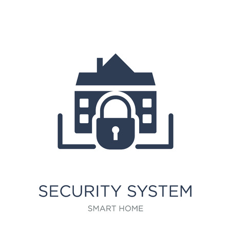 Security system icon. Trendy flat vector Security system icon on white background from smart home collection, vector illustration can be use for web and mobile, eps10