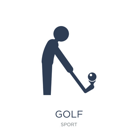 Golf icon. Trendy flat vector Golf icon on white background from sport collection, vector illustration can be use for web and mobile, eps10