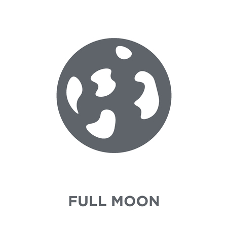 Full moon icon. Full moon design concept from  collection. Simple element vector illustration on white background. Stock Illustratie
