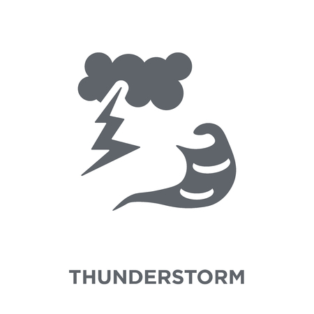 Thunderstorm icon. Thunderstorm design concept from Weather collection. Simple element vector illustration on white background.