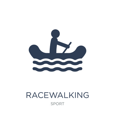 racewalking icon. Trendy flat vector racewalking icon on white background from sport collection, vector illustration can be use for web and mobile, eps10  イラスト・ベクター素材