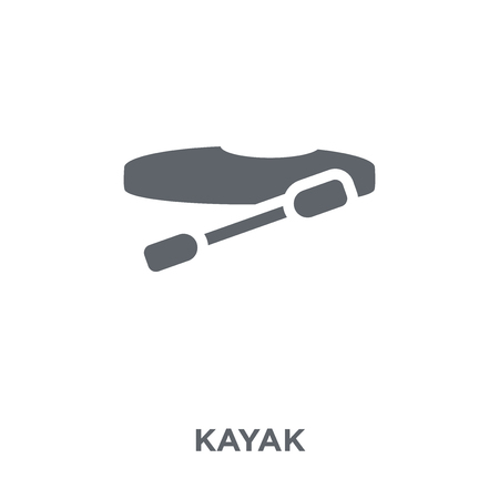 Kayak icon. Kayak design concept from  collection. Simple element vector illustration on white background. Stok Fotoğraf - 112417577