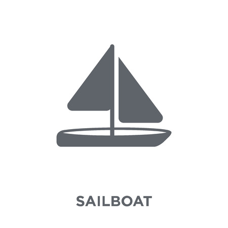 Sailboat icon. Sailboat design concept from  collection. Simple element vector illustration on white background. 矢量图像